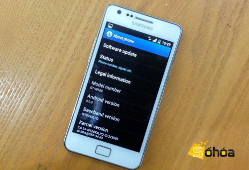 Phu kien iPhone - Galaxy S II bắt đầu bán ra với Android 4.0 cài đặt sẵn