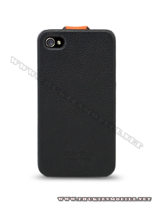 Bao da iPhone 4 Melkco Leather Case - Limited Edition Jacka Type (Black/Orange LC)  1