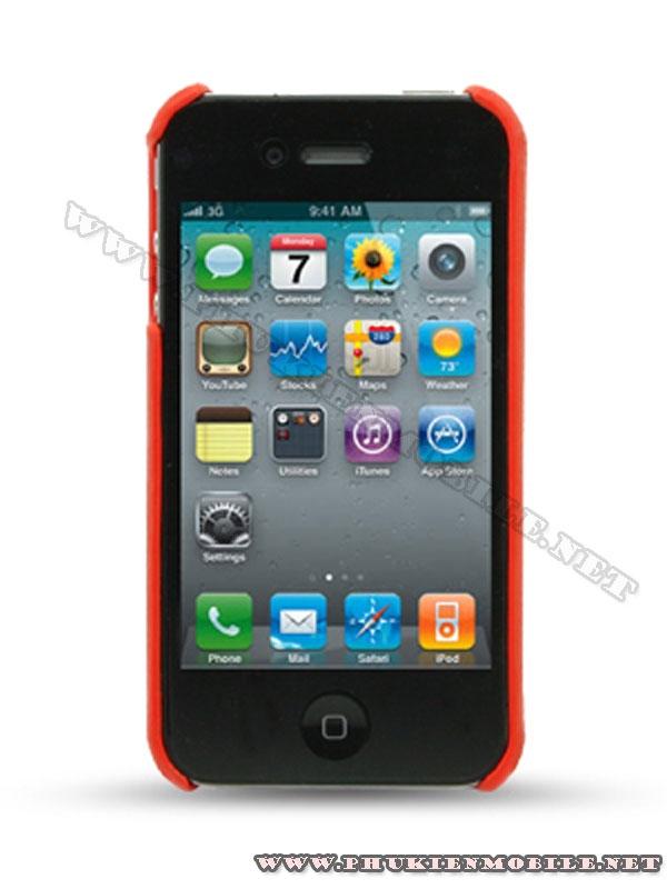 Ốp lưng iPhone 4 Melkco Leather Snap Cover màu đỏ 1