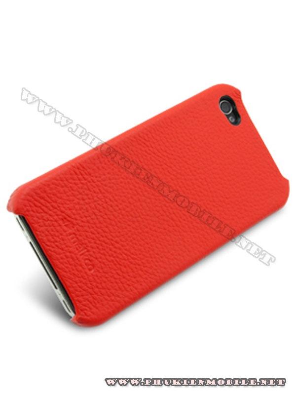 Ốp lưng iPhone 4 Melkco Leather Snap Cover màu đỏ 2