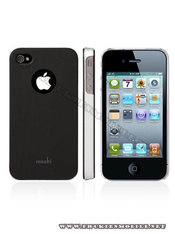 Ốp lưng iPhone 4 Moshi iGlaze 4 XT (Đen) 1