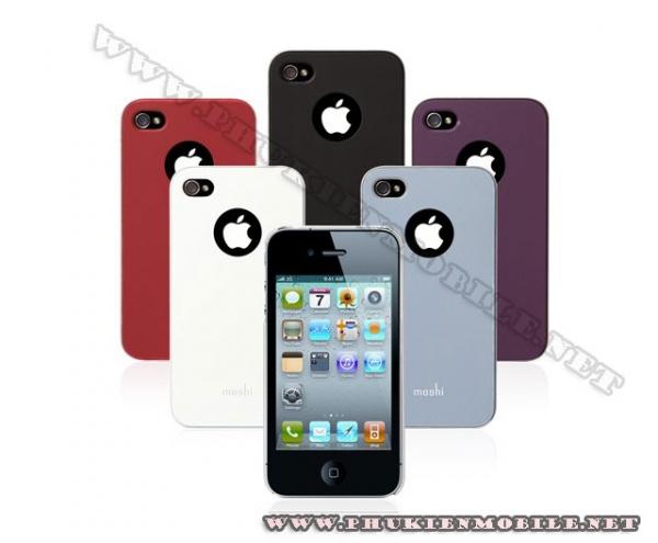 Ốp lưng iPhone 4 Moshi iGlaze 4 XT (Xanh) 2