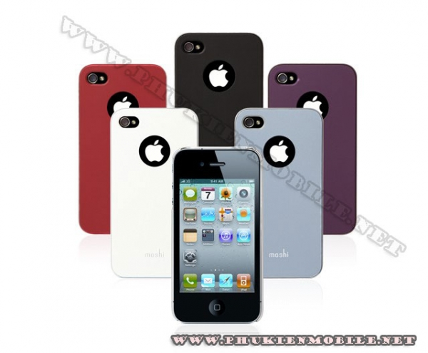 Ốp lưng iPhone 4 Moshi iGlaze 4 XT (Đỏ) 2