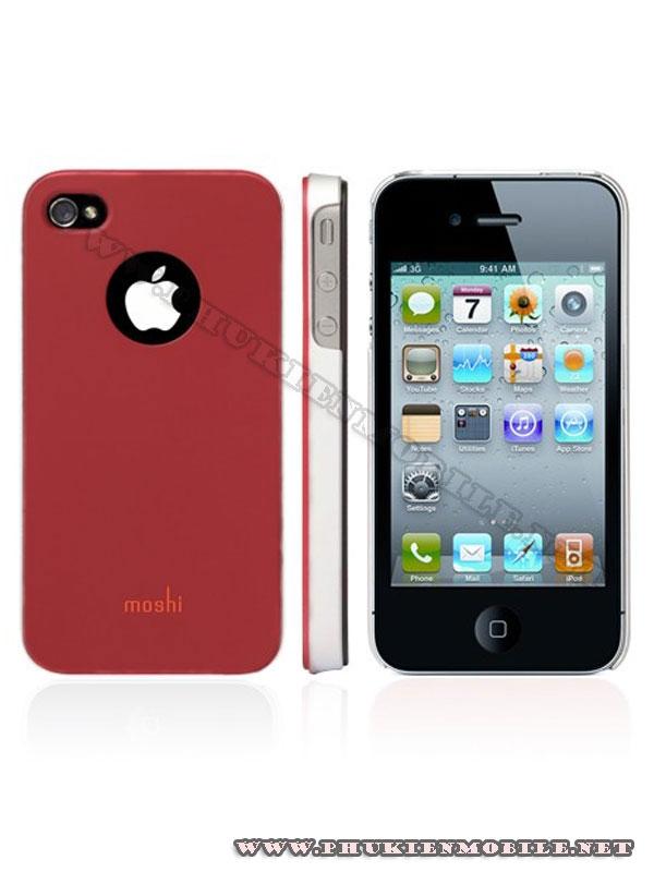 Ốp lưng iPhone 4 Moshi iGlaze 4 XT (Đỏ) 3