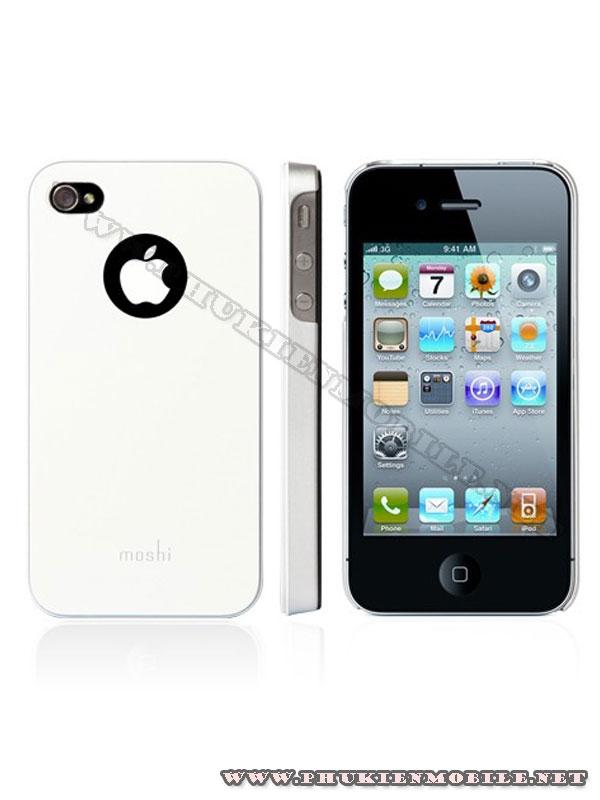 Ốp lưng iPhone 4 Moshi iGlaze 4 XT (Trắng) 1