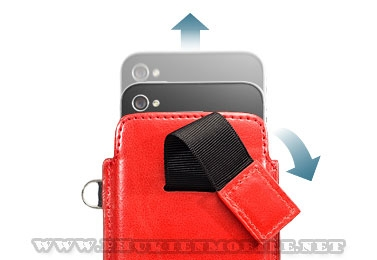 Bao cầm tay iPhone 4 Capdase Smart Pocket  (Đỏ) 2