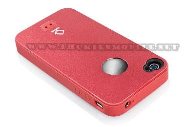 Ốp lưng iPhone 4 Capdase Alumor Metal Case (Đỏ) 2