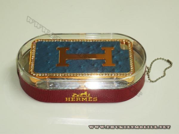 Ốp lưng iPhone 4 Hermes (Xanh) 1