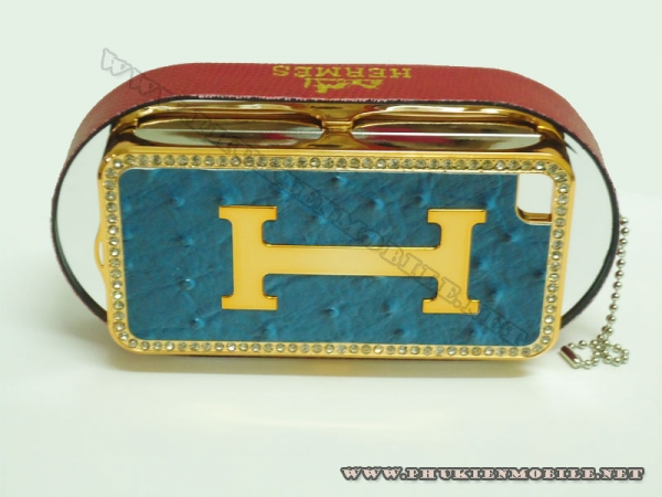 Ốp lưng iPhone 4 Hermes (Xanh) 2