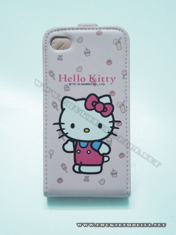 Bao da iPhone 4 Hello Kitty (Hồng nhạt) 1