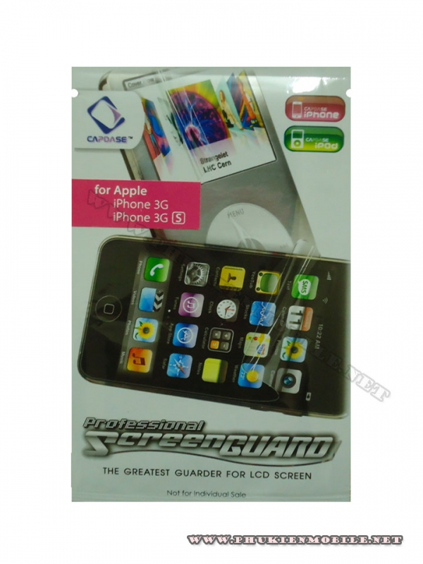 Miếng dán bảo vệ màn hình iPhone 3G, 3GS Capdase 1 mặt 1