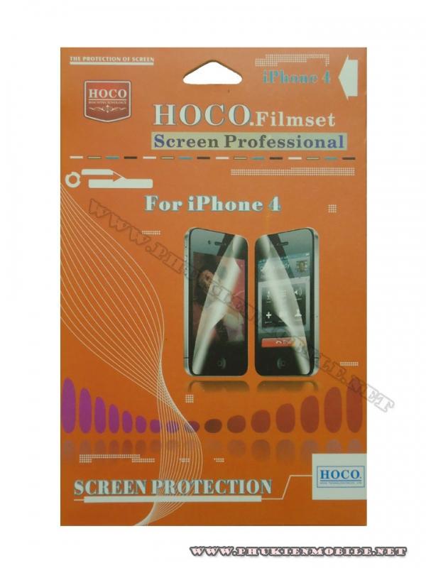 Miếng dán bảo vệ màn hình  iPhone 4 Hoco 2 mặt bóng 1