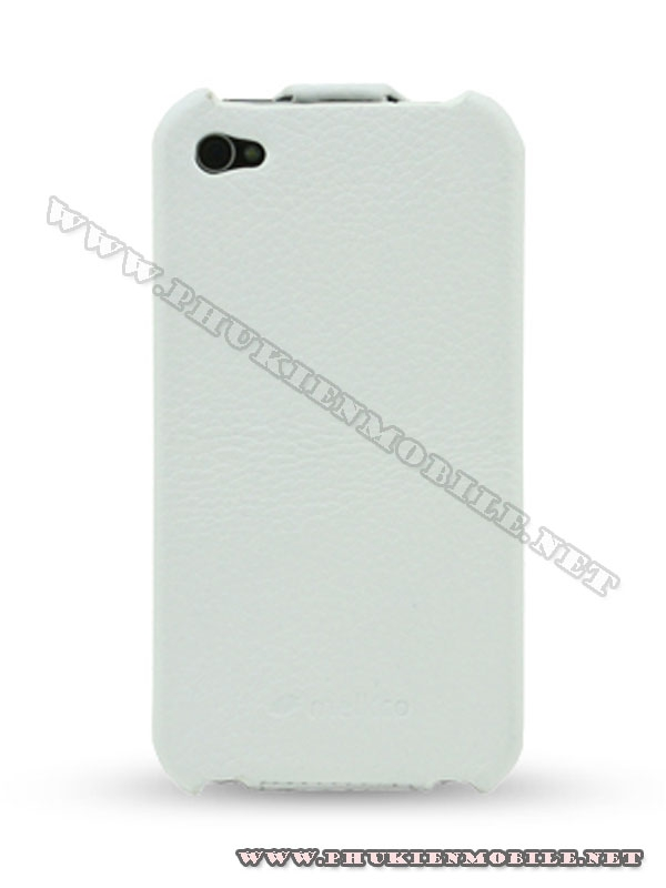 Bao da iPhone 4 Melkco Leather Case - Jacka Type Mầu trắng 2