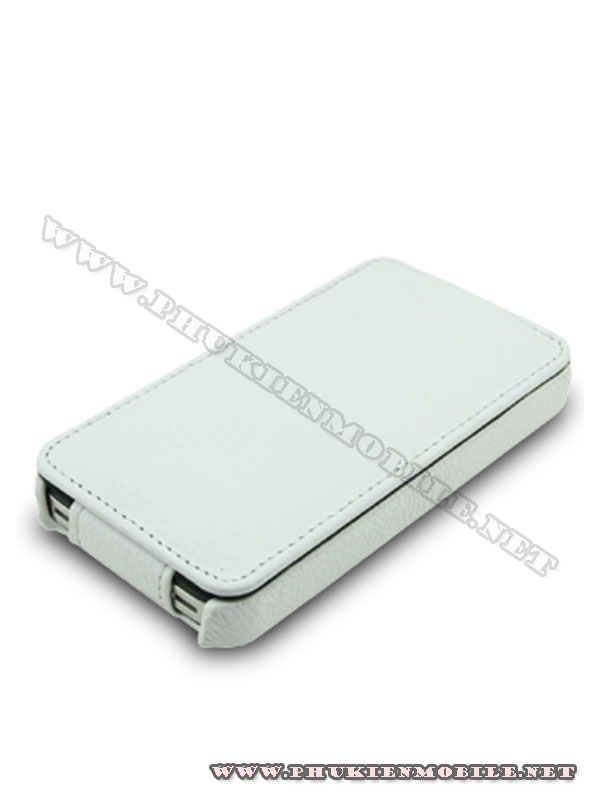 Bao da iPhone 4 Melkco Leather Case - Jacka Type Mầu trắng 3