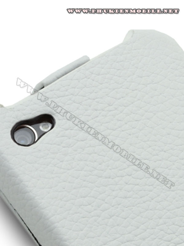 Bao da iPhone 4 Melkco Leather Case - Jacka Type Mầu trắng 5