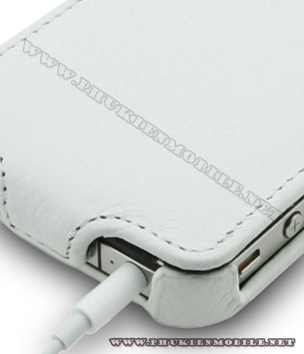 Bao da iPhone 4 Melkco Leather Case - Jacka Type Mầu trắng 6