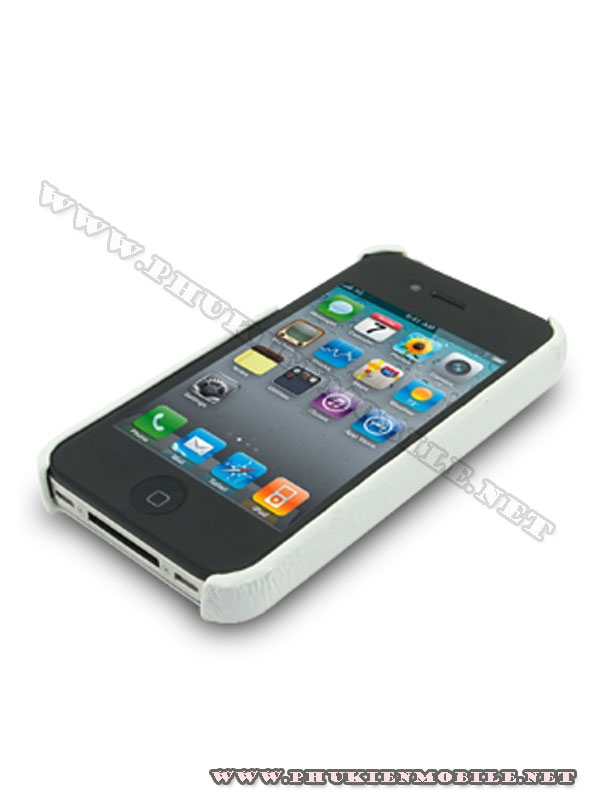 Ốp lưng  iPhone 4 Melkco Leather Snap Cover màu trắng 2
