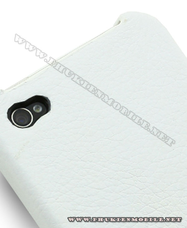 Ốp lưng  iPhone 4 Melkco Leather Snap Cover màu trắng 3