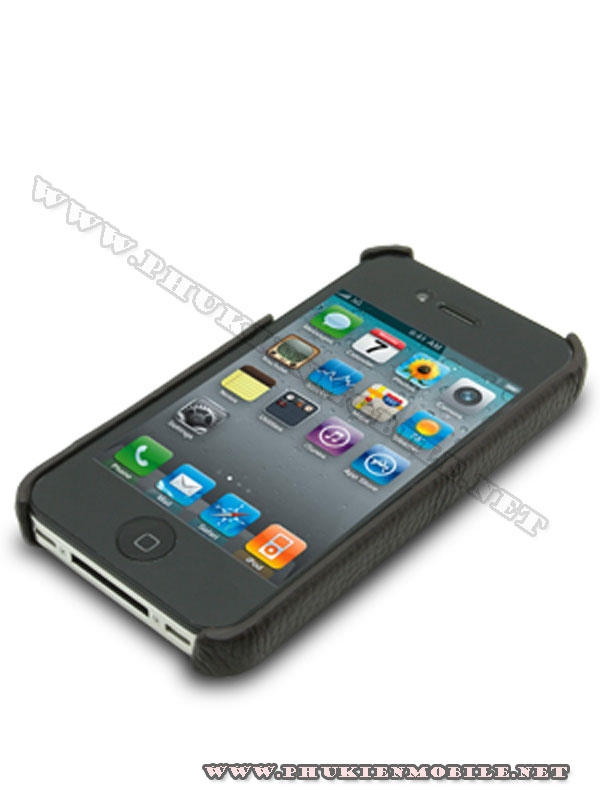 Ốp lưng  iPhone 4 Melkco Leather Snap Cover màu đen 2