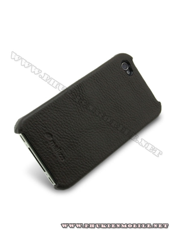 Ốp lưng  iPhone 4 Melkco Leather Snap Cover màu đen 3