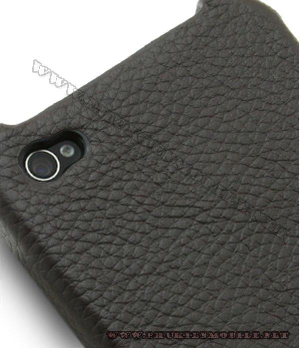 Ốp lưng  iPhone 4 Melkco Leather Snap Cover màu đen 4