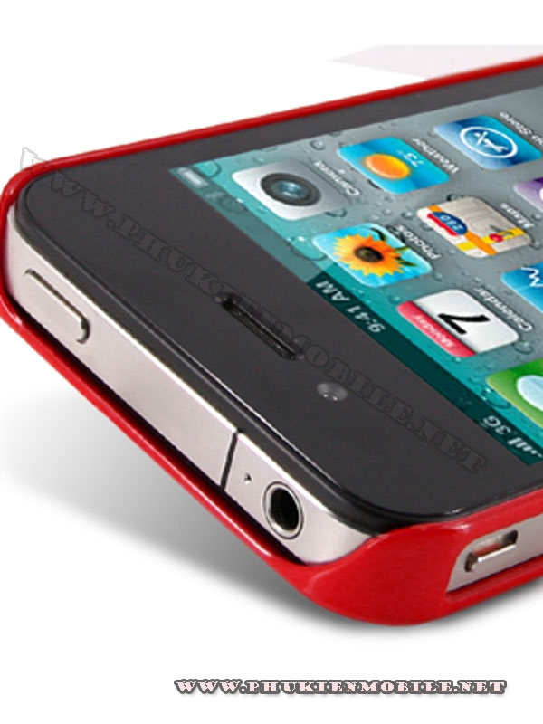 Ốp lưng iPhone 4 Melkco Formula Cover màu đỏ 5