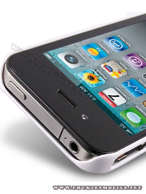 Ốp lưng iPhone 4 Melkco Formula Cover màu trắng 5