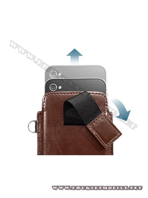 Bao cầm tay iPhone 4 Capdase Smart Pocket (Nâu) 1