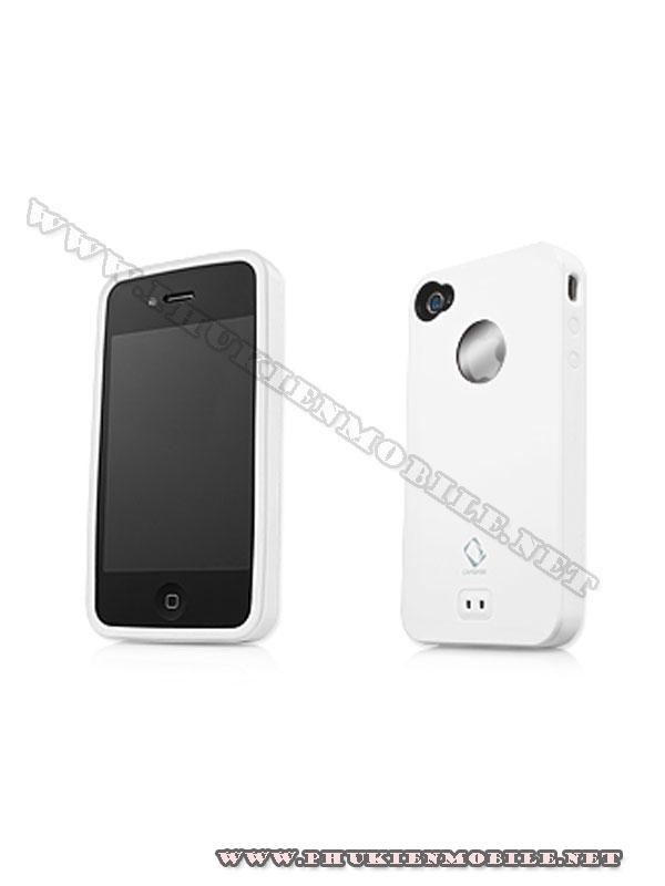 Ốp lưng iPhone 4 Capdase Alumor Metal Case (Trắng) 2