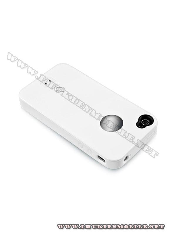 Ốp lưng iPhone 4 Capdase Alumor Metal Case (Trắng) 3