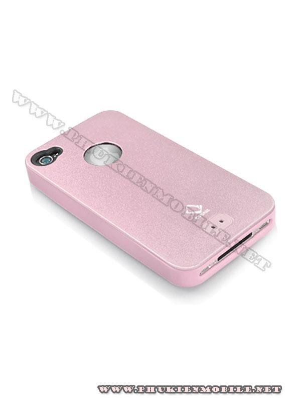 Ốp lưng iPhone 4 Capdase Alumor Metal Case (Hồng) 2
