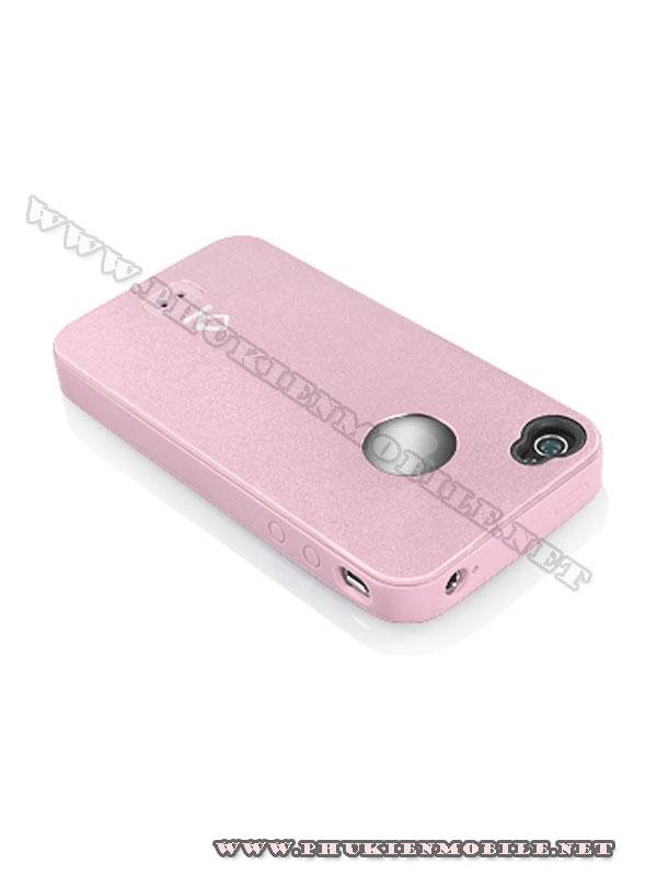 Ốp lưng iPhone 4 Capdase Alumor Metal Case (Hồng) 3