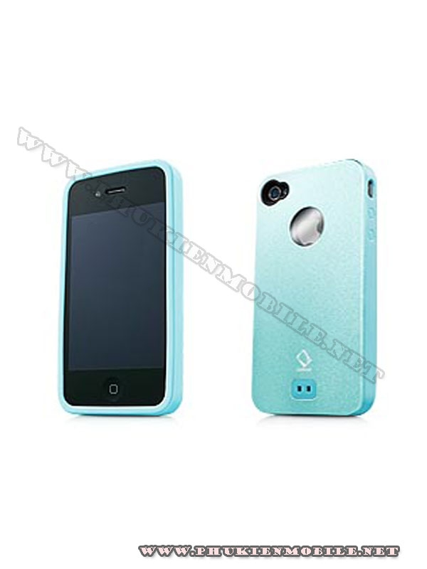 Ốp lưng iPhone 4 Capdase Alumor Metal Case (Xanh) 2