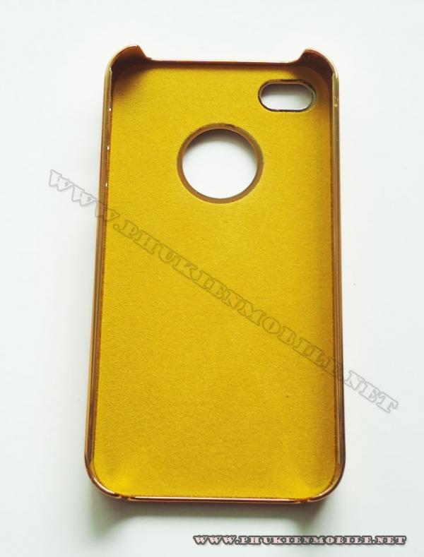 Ốp lưng iPhone 4 thời trang Plating (Bur Trắng) 1