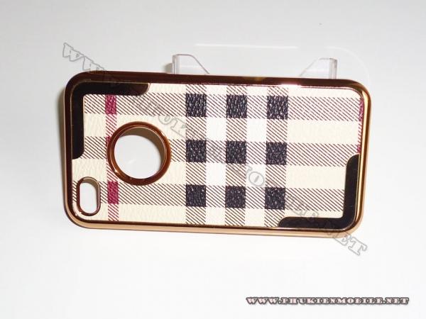 Ốp lưng iPhone 4 thời trang Plating (Bur Trắng) 4