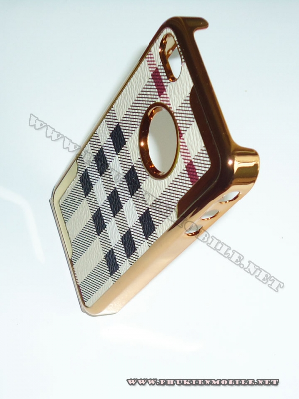 Ốp lưng iPhone 4 thời trang Plating (Bur Trắng) 5