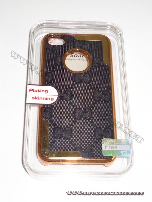 Ốp lưng iPhone 4 thời trang Plating ( Ghi Đen) 1