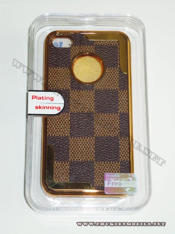 Ốp lưng iPhone 4 thời trang Plating ( Nâu Đen) 1