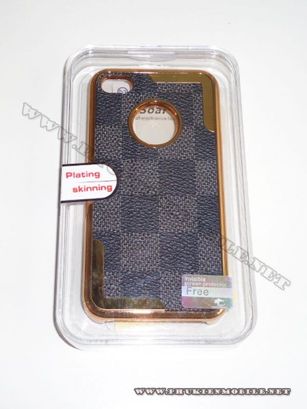 Ốp lưng iPhone 4 thời trang Plating ( Nâu Đen) 2