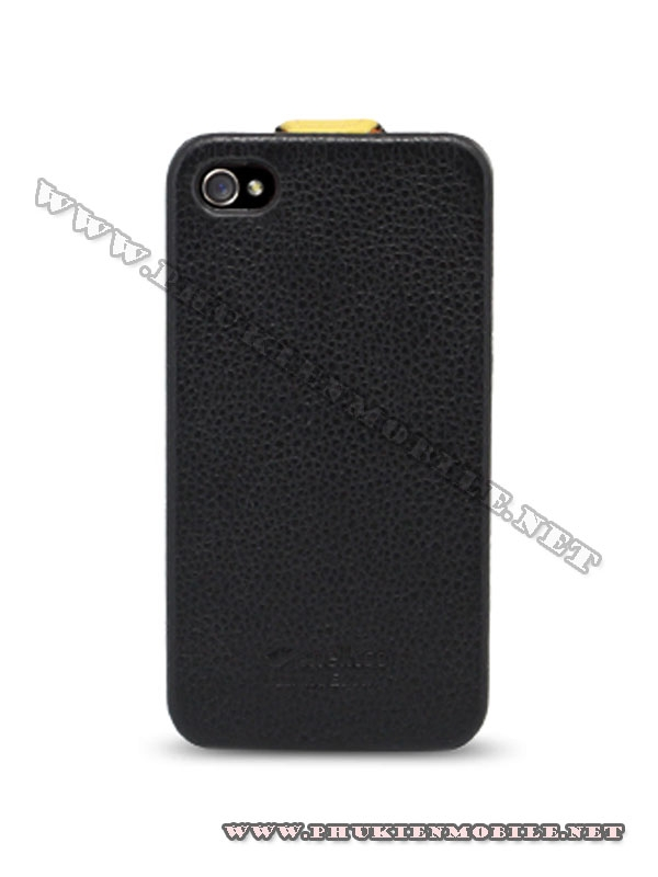 Bao da iPhone 4 Melkco Leather Case - Jacka Type (Đen/Vàng LC) 3