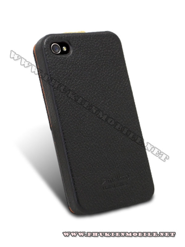 Bao da iPhone 4 Melkco Leather Case - Jacka Type (Đen/Vàng LC) 5
