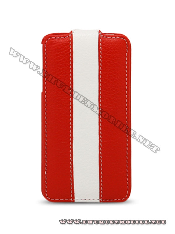 Bao da iPhone 4 Melkco Leather Case - Jacka Type (Đỏ/Trắng) 2