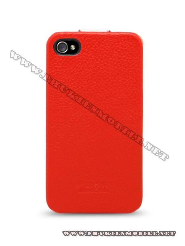 Bao da iPhone 4 Melkco Leather Case - Jacka Type (Đỏ/Trắng) 3