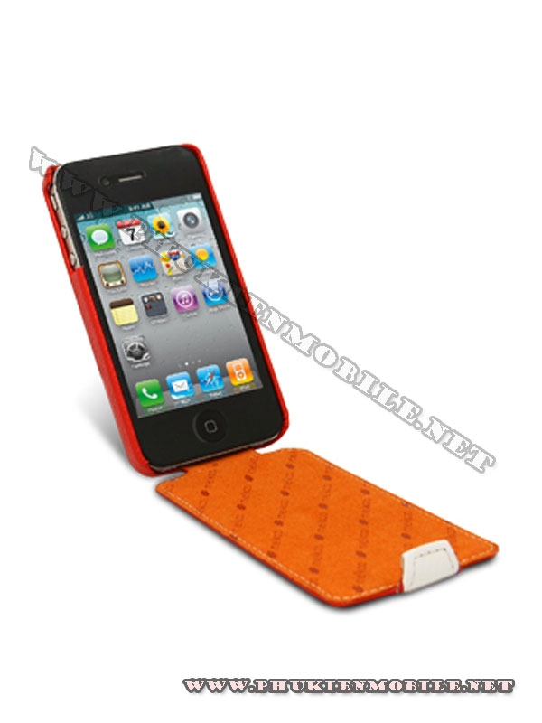 Bao da iPhone 4 Melkco Leather Case - Jacka Type (Đỏ/Trắng) 4