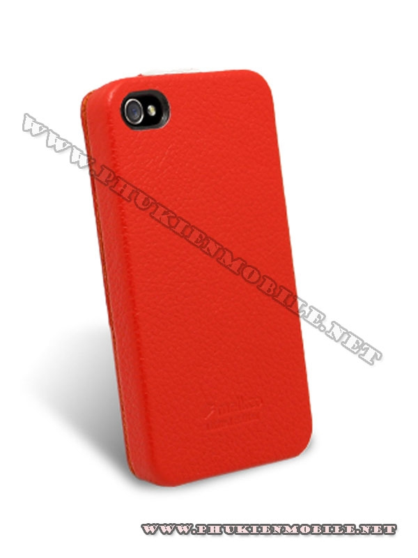 Bao da iPhone 4 Melkco Leather Case - Jacka Type (Đỏ/Trắng) 5