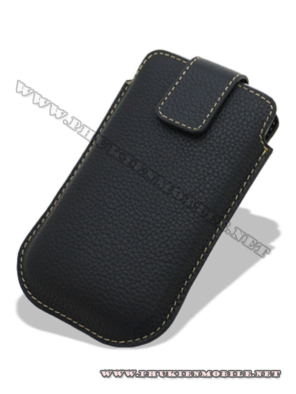 Bao cầm tay iPhone 4 Melkco Leather Case - Oto Holder Type màu đen 1
