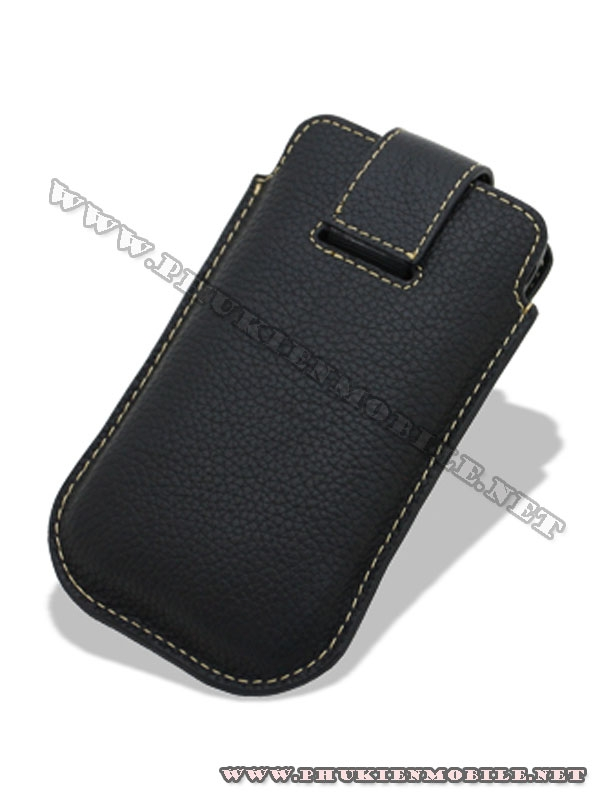 Bao cầm tay iPhone 4 Melkco Leather Case - Oto Holder Type màu đen 2