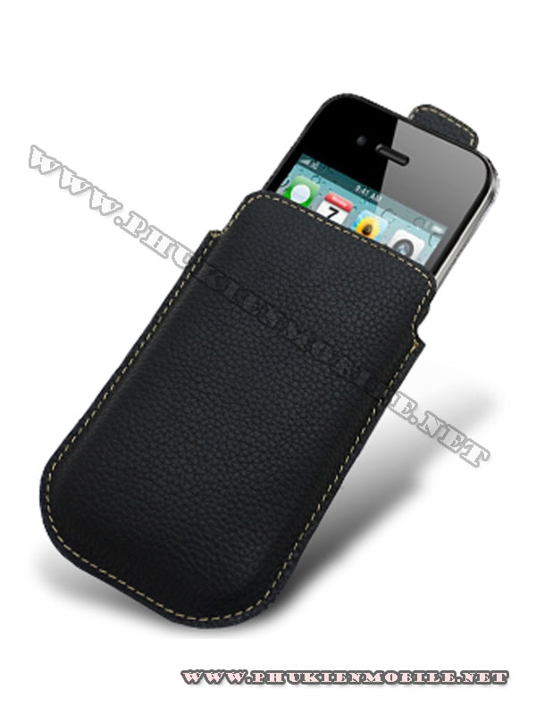Bao cầm tay iPhone 4 Melkco Leather Case - Oto Holder Type màu đen 3