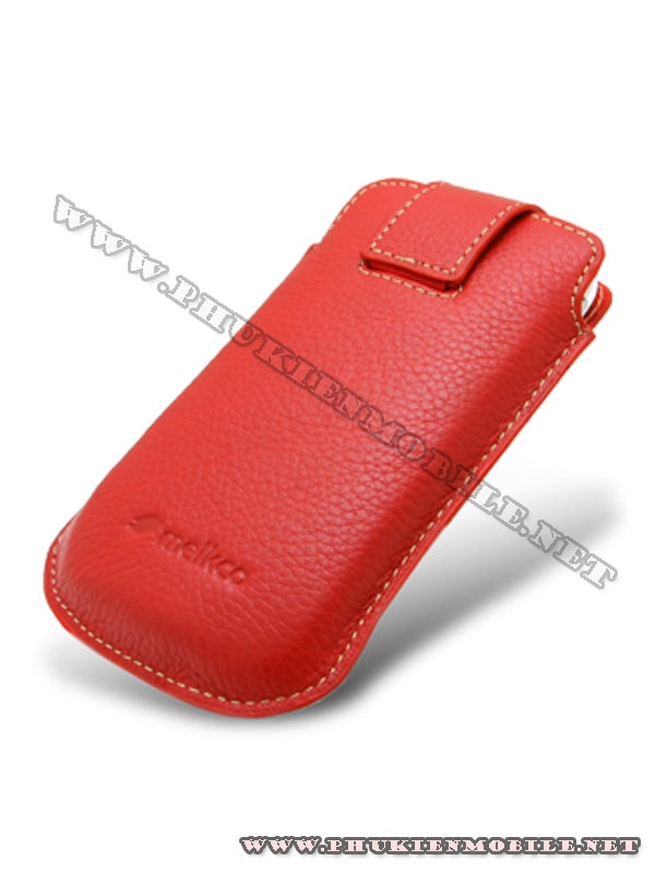 Bao cầm tay iPhone 4 Melkco Leather Case - Oto Holder Type màu đỏ 2