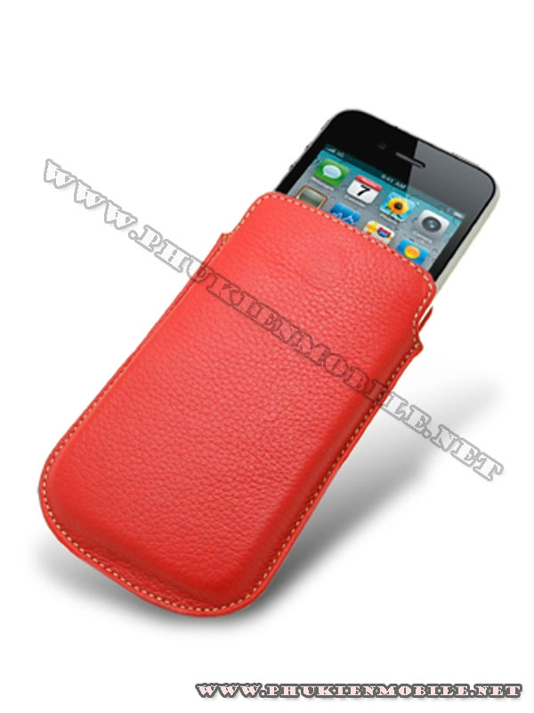 Bao cầm tay iPhone 4 Melkco Leather Case - Oto Holder Type màu đỏ 3